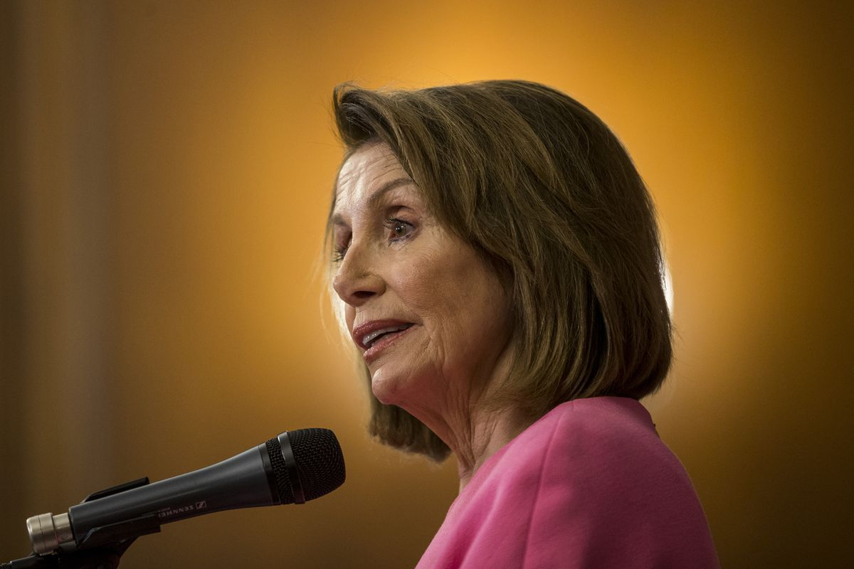 Democratic House Minority Leader Nancy Pelosi Holds News Conference Day After Midterm Elections