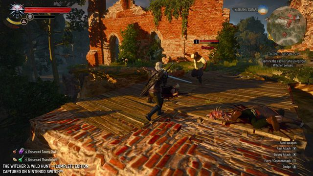 Screenshot of a swordfight from The Witcher 3: Wild Hunt