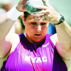 Jillian Camarena-Williams, of the New York Athletic Club, won the shot put at the USA Outdoor Track and Field Championships, Saturday, June 26, 2010, in Des Moines, Iowa. She is competing in the 2012 London Olympics.