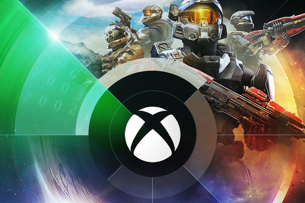 Artwork for Xbox's E3 2021 showcase, featuring Master Chief from Halo