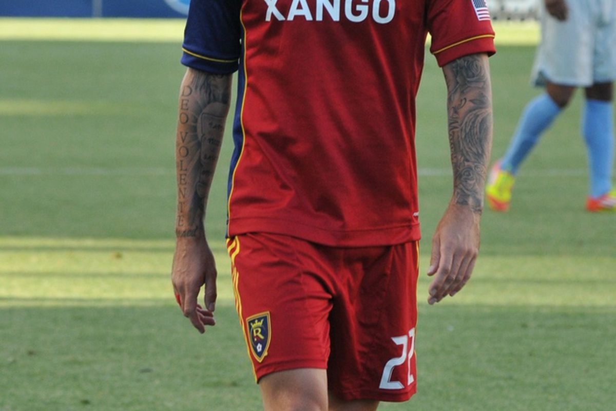 Jonny Steele wasn't the only person who didn't look happy with the results of RSL's Open Cup match against the Minnesota Stars. Photo by Me