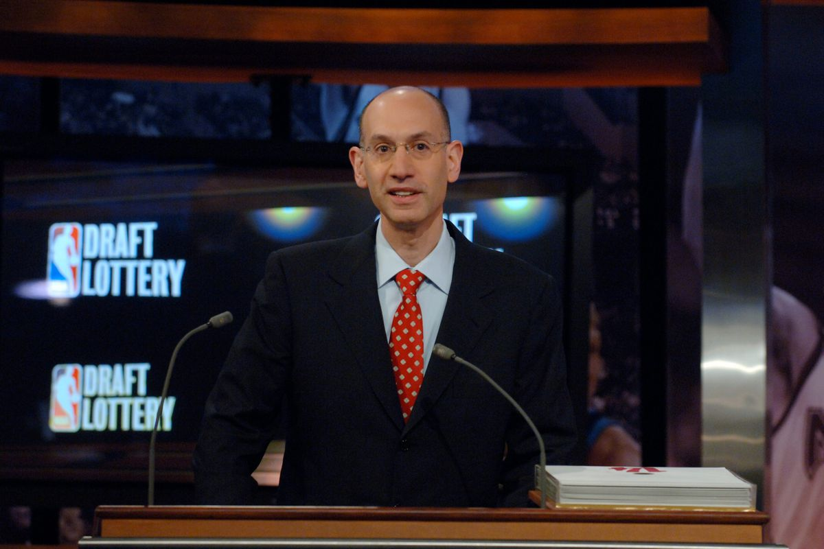 Adam Silver, Deputy Commissioner of the NBA announces picks during the 2007 NBA Draft Lottery on May 22, 2007 at the NBATV Studios in Secaucus, New Jersey.