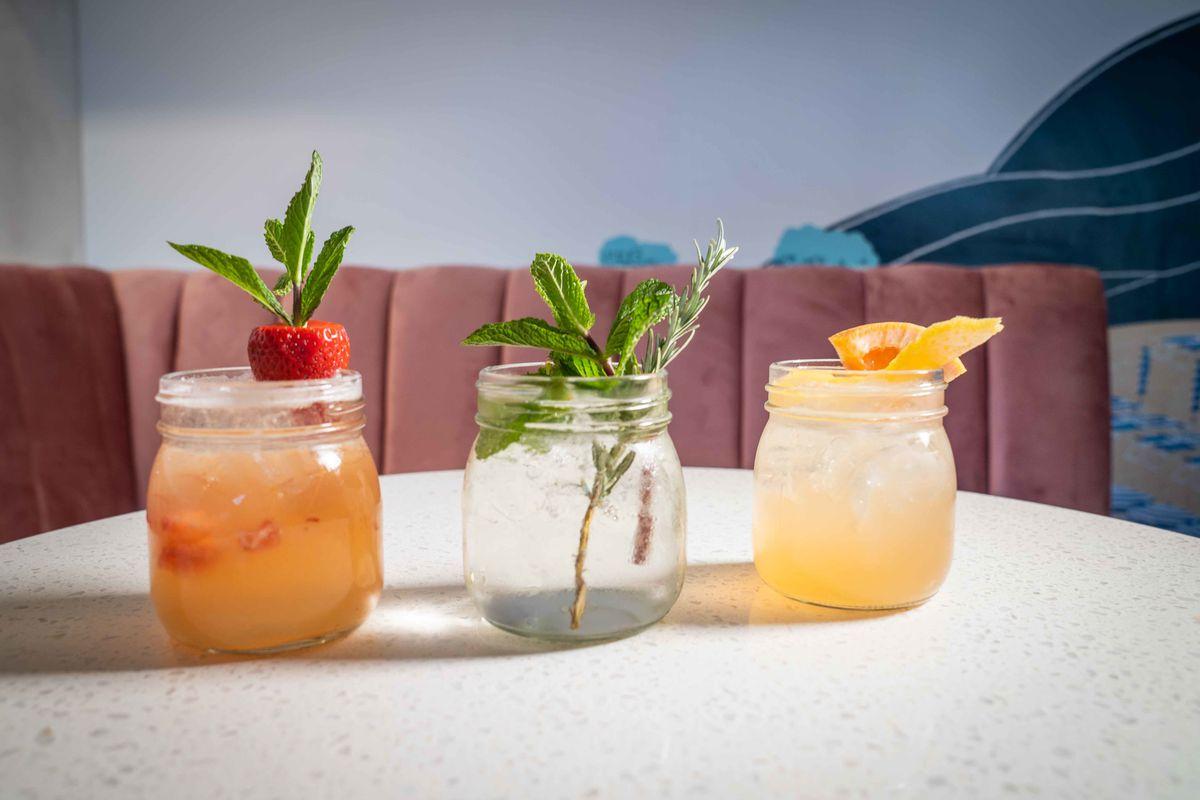Trio of spritz cocktails from Ciao Ciao Piadina