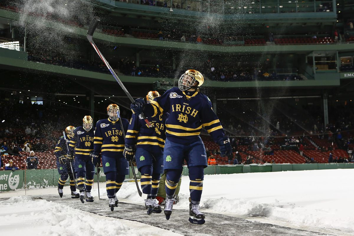 Notre Dame looks to win its first ever Hockey East Championship this weekend at the TD Garden in Boston, Mass.