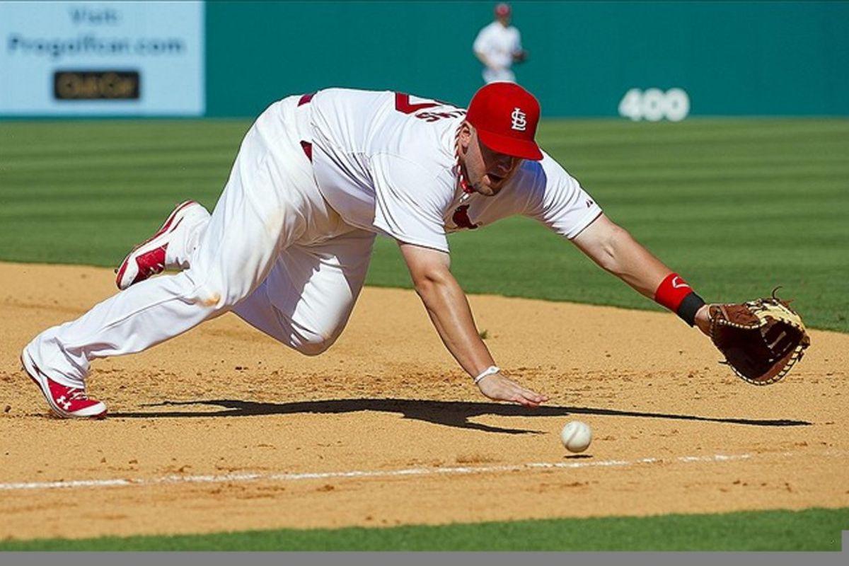 This is Matt Adams. His real job is to hit the baseballs. (Scott Rovak-US PRESSWIRE)