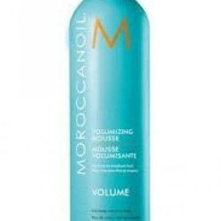 """<a href=""""http://beansstore.myshopify.com/products/moroccan-oil-moroccanoil-volumizing-mousse""""> Moroccan Oil Moroccanoil Volumizing Mousse </a>, $28.00."""