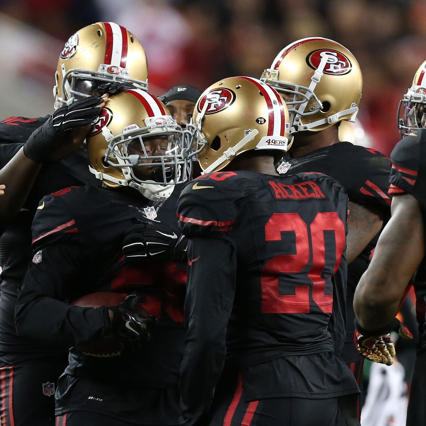966a5b5976f Happy third anniversary to the 49ers black alternate uniforms - Niners  Nation