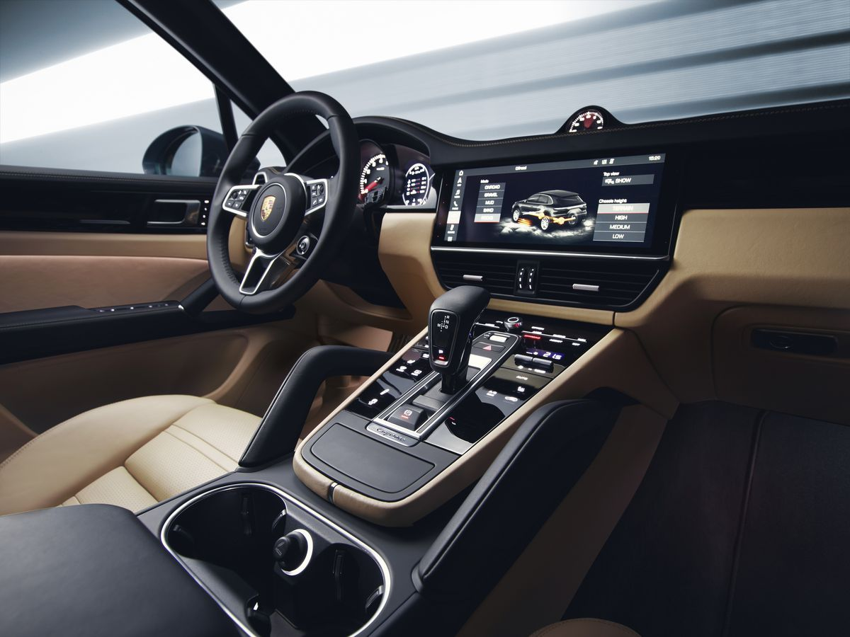 like the new panamera models the 2019 cayenne ditches most of the old car s physical buttons for screens and touch sensitive panels to use all of the