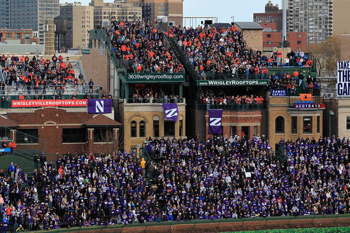 A view of some of the Wrigley rooftops during the Northwestern/Illinois game, November 20, 2010.