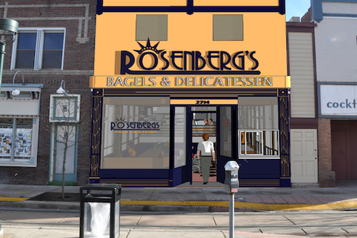 Rosenberg's Bagels and Delicatessen Welton Street Rendering