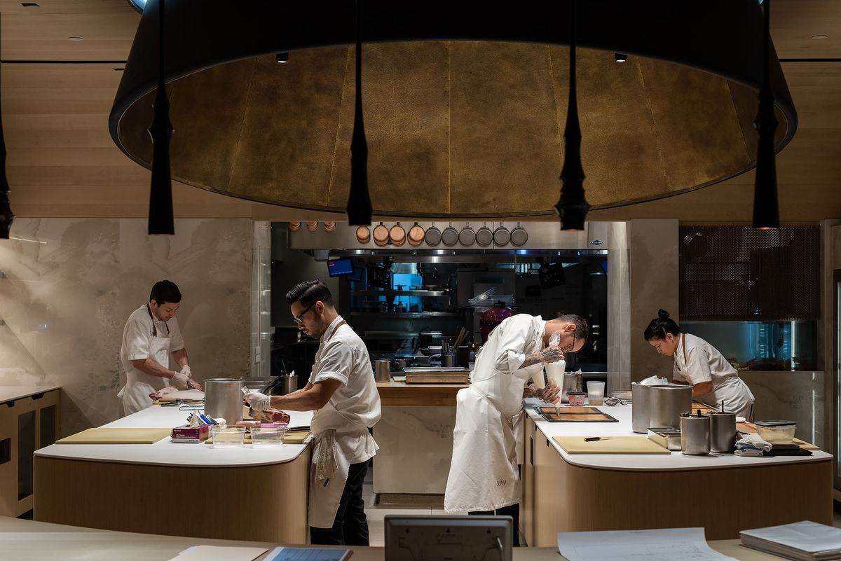 The kitchen at Somni Los Angeles