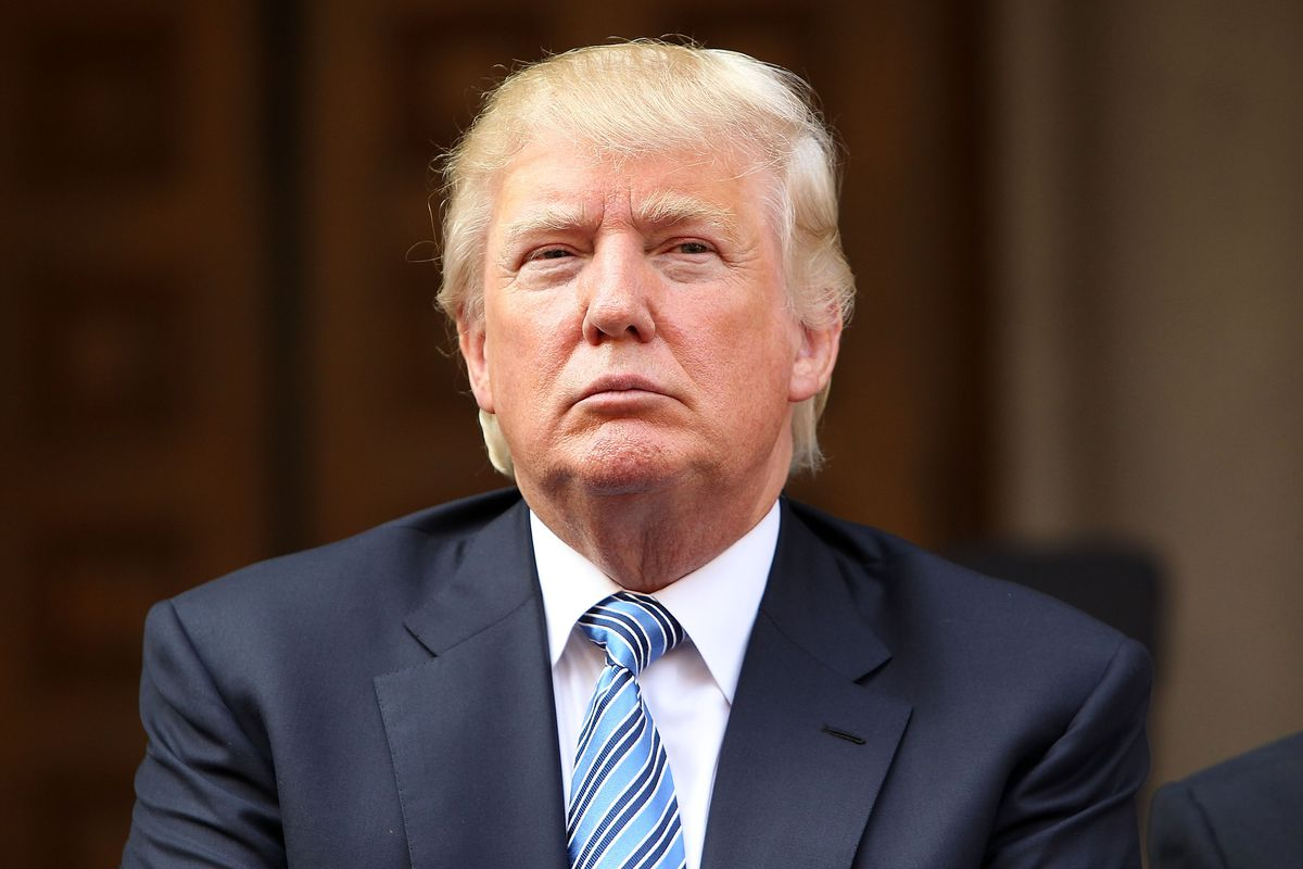 Donald Trump, looking sad