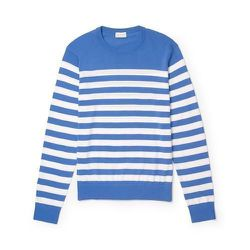 """<strong>Club Monaco</strong> Cotton Crew in Azure, <a href=""""http://www.clubmonaco.com/product/index.jsp?productId=28716786"""">$59 (reg $79.50)</a>"""