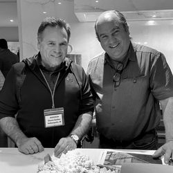 """Insider Steven Guthier poses with Richard. Steven is a retired Homicide Detective from Indianapolis, IN. """"I'm an avid DIY'er and once used Tom Silva's instructions from the Manchester Project in 2001 to convert an outside patio to a 4 season inside room,"""" he said."""