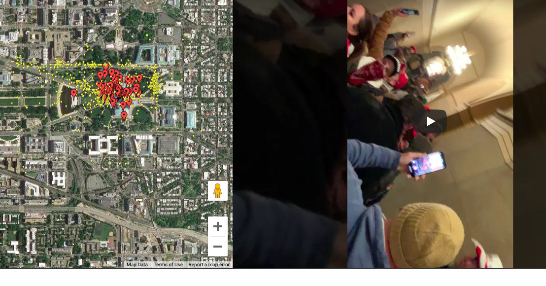 A Parler archive is being converted into an interactive map of the Capitol building attack