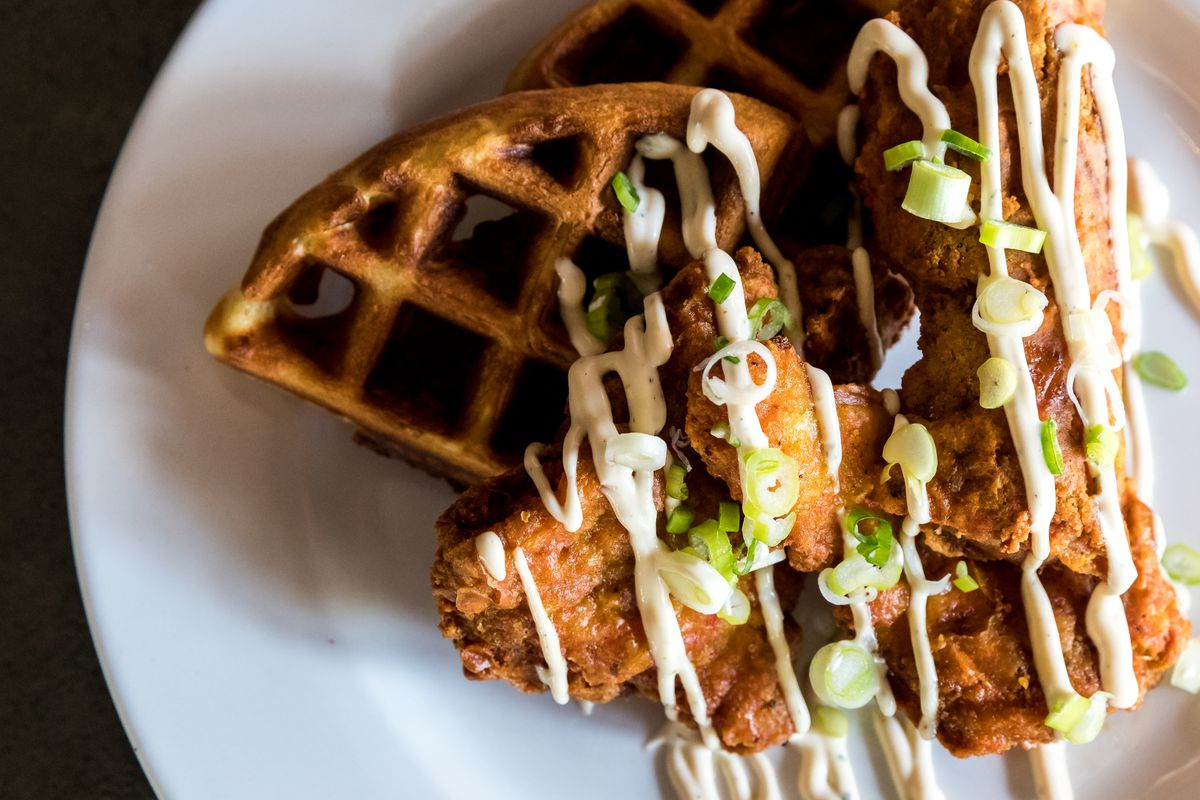 Chicken and waffles at Epstein's