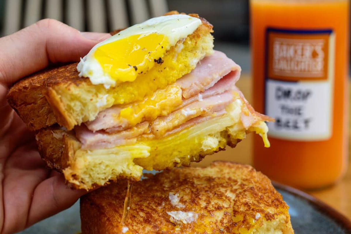 An off-menu croque madame from Baker's Daughter
