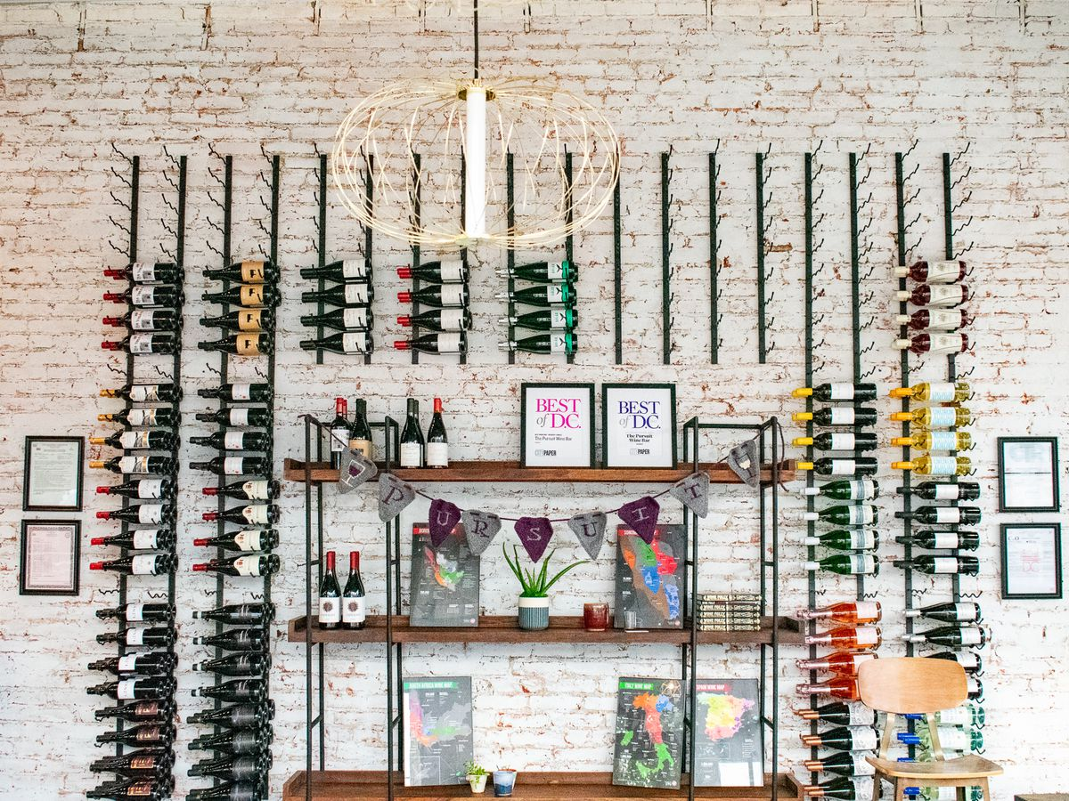 The wine wall at Pursuit