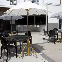Another view of the patio at Mingo Kitchen & Bar.