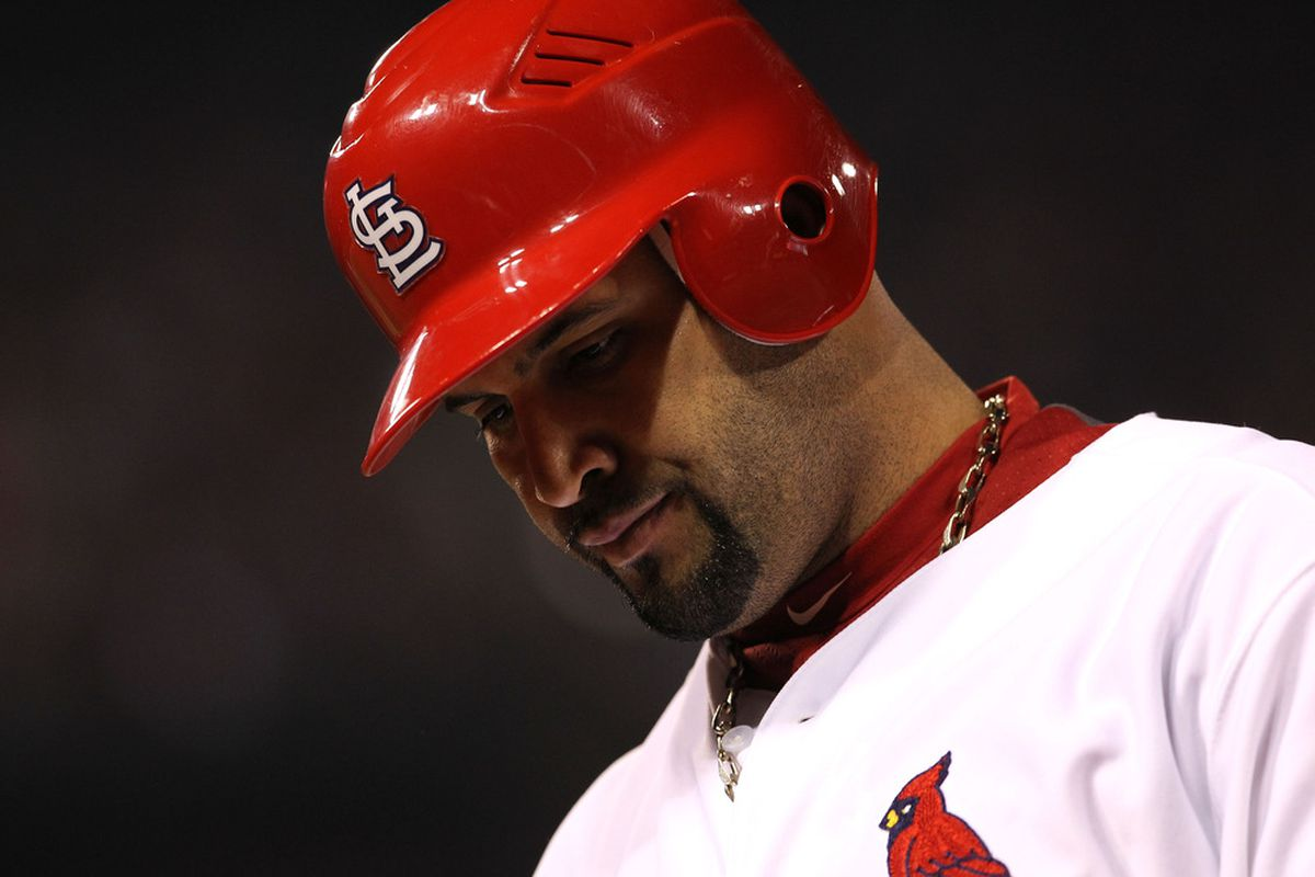 Albert Pujols.  (Photo by Jamie Squire/Getty Images)