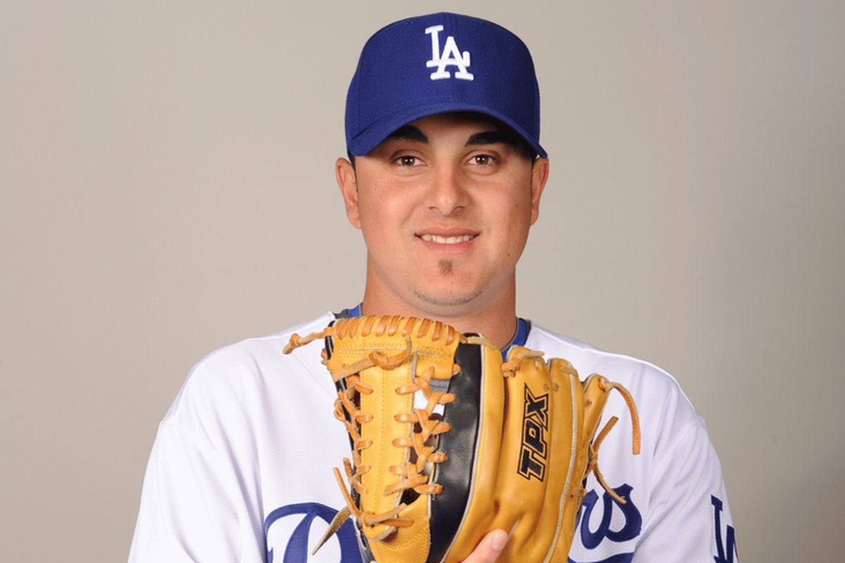Victor Garate, seen here in spring training at Camelback Ranch in 2009.