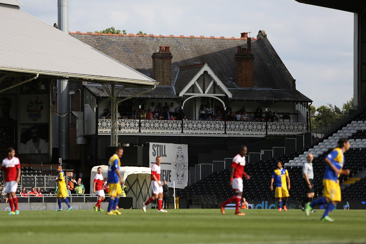 In case you weren't aware, there really is a Craven Cottage.