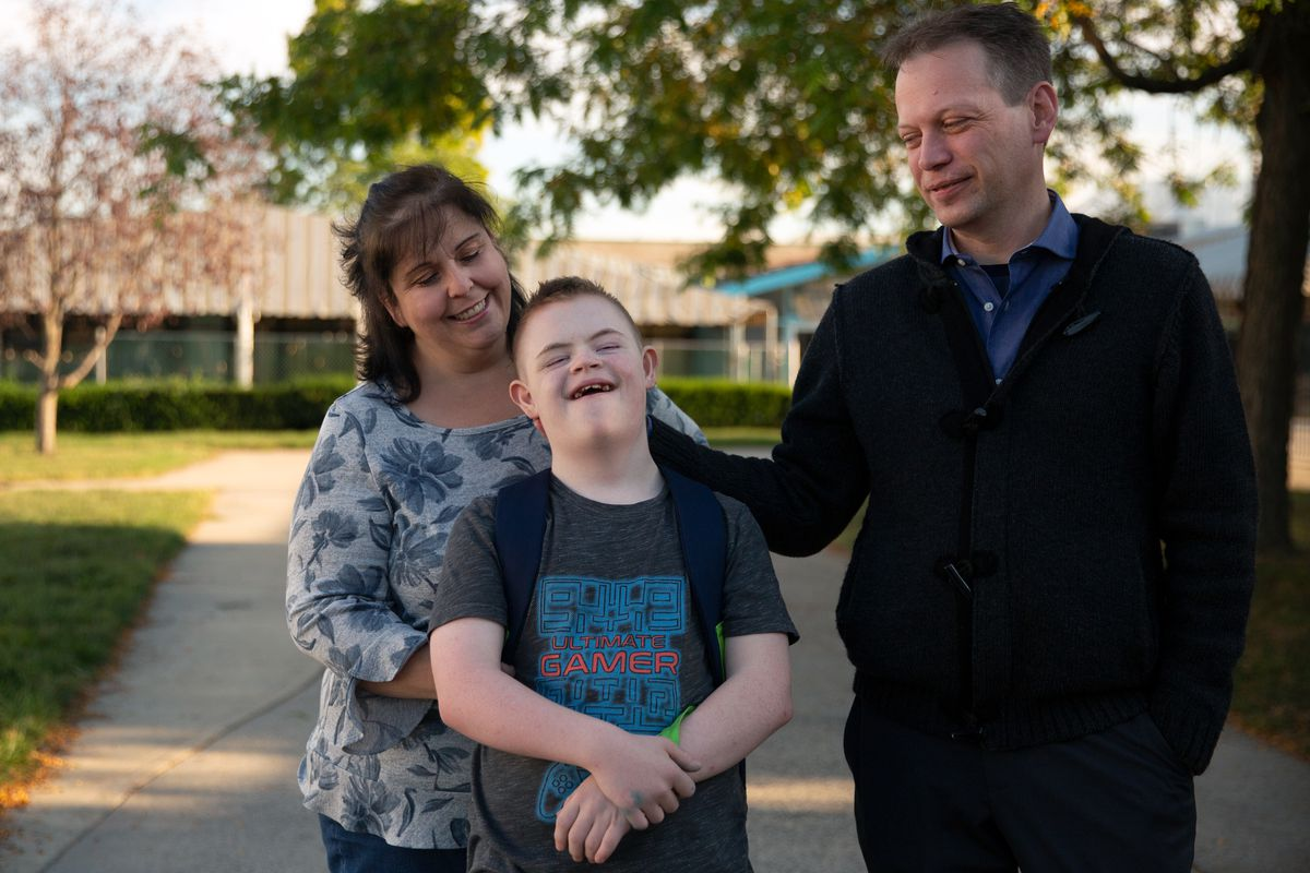 Anne and Jason Kanable said their son Dane, who has Down syndrome, was lost for an entire school day after the wrong bus driver mistakenly picked him up, Oct. 15, 2019.