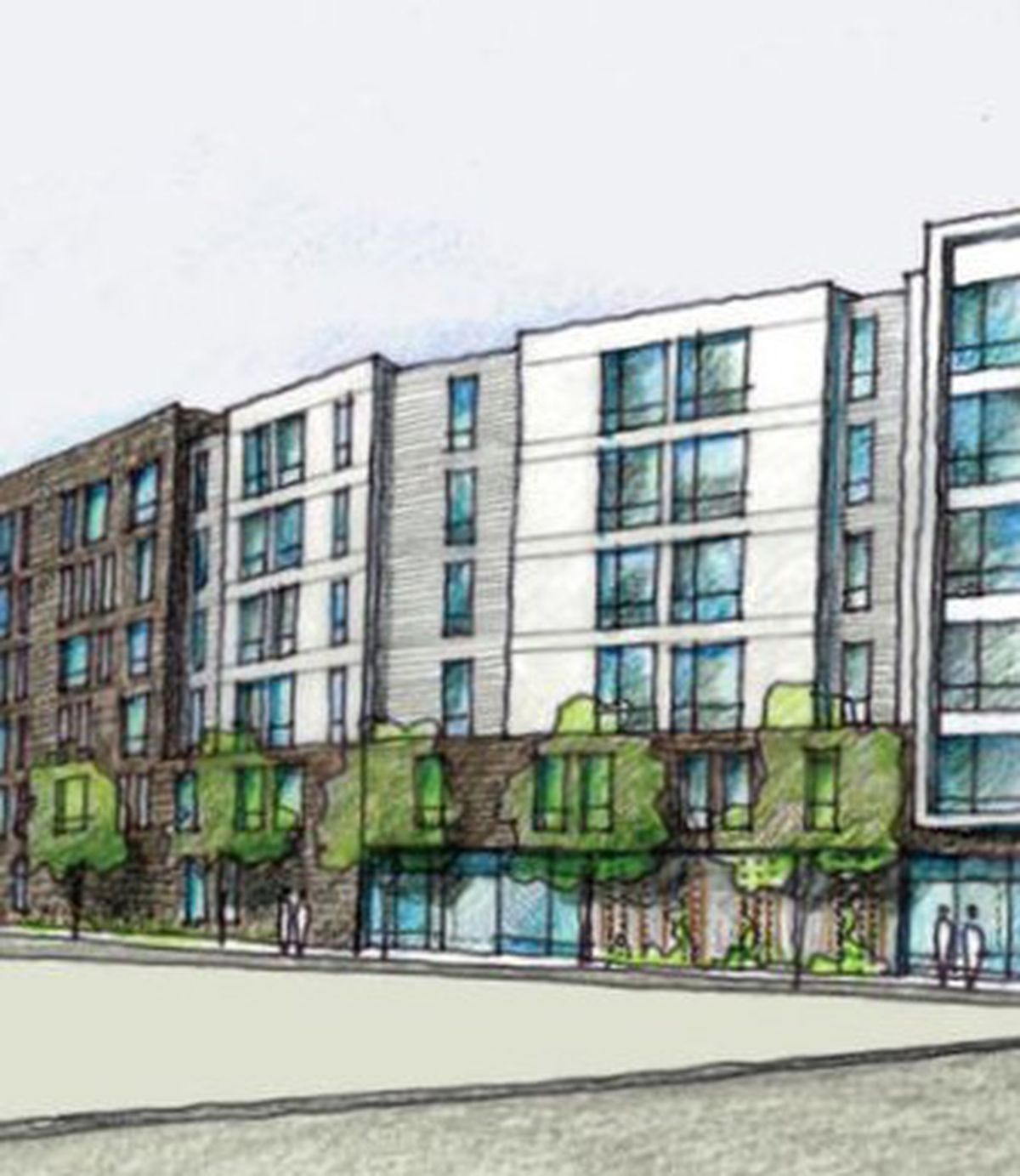Three six-story buildings would bring 261 apartments to a nearly 2-acre  site near the mammoth Boston Landing development, which itself is due to  include 295 ...