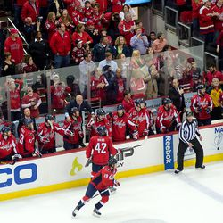 Trotz Stands on Bench