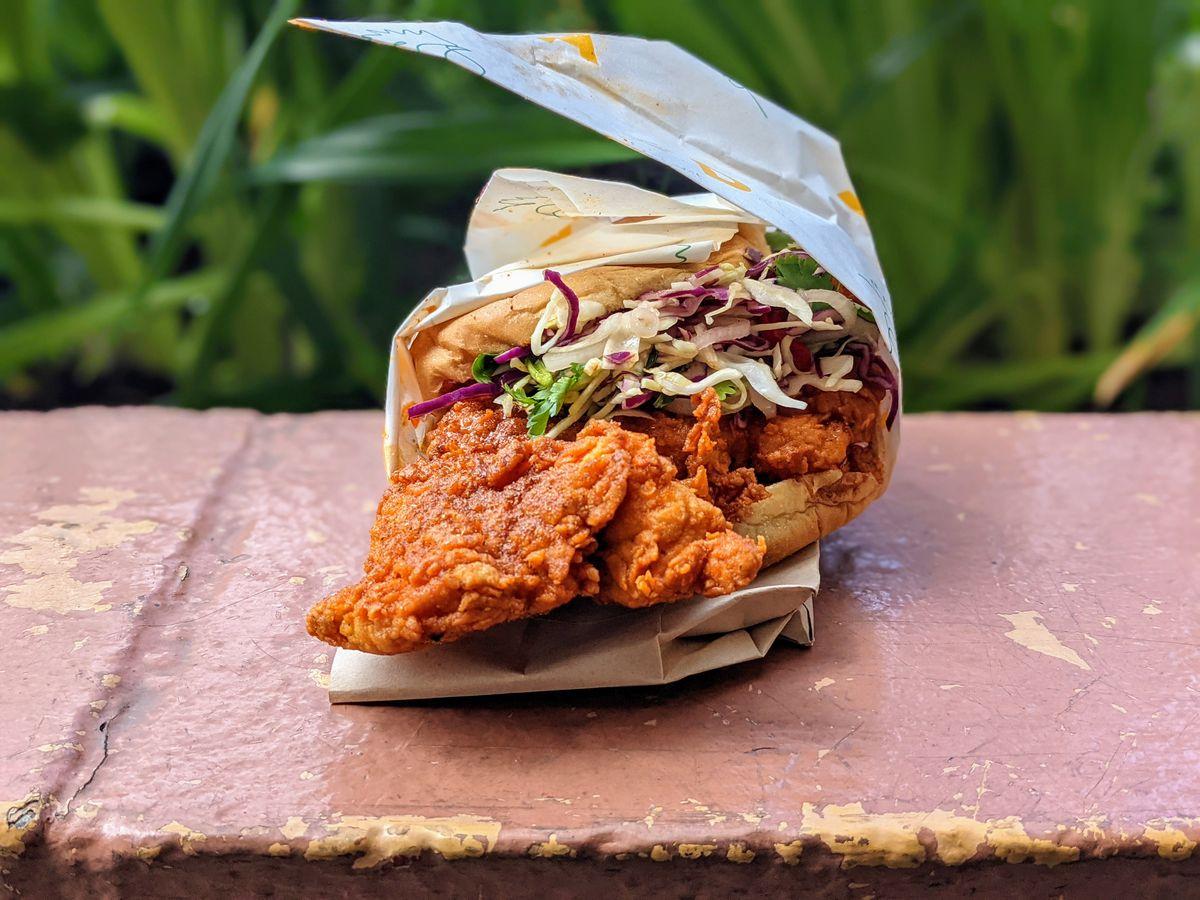 Daybird's fried chicken sandwich in Los Angeles