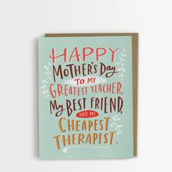 """Don't forget the card! For you non-crafty gift givers: Many Roles Mother's Day card, <a href=""""http://urbanic.bigcartel.com/product/many-roles-mother-s-day-card"""">$5.50</a> at Urbanic"""