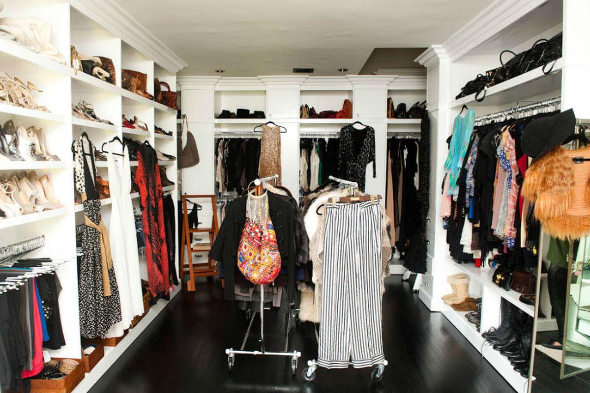 "That's Hedi's closet. Photo via <a href=""http://www.thecoveteur.com/Hedi_Gores"">The Coveteur</a>."