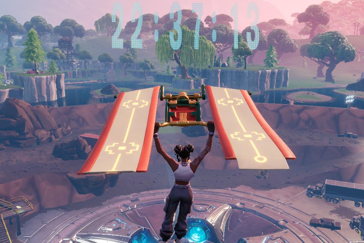 Fortnite's Loot Lake countdown