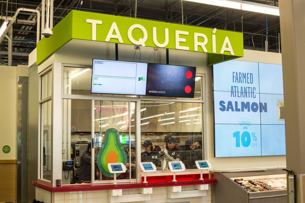 The taqueria inside 365 by Whole Foods