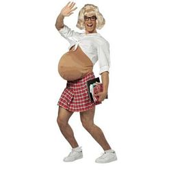 """<a href=""""http://www.findcostume.com/pregnant-school-girl-costume.html"""">The pregnant school girl</a>. They also carry a pregnant cheerleader and just pregnant version."""