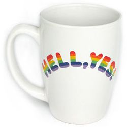 """Hell, Yes! Mug, <a href=""""http://www.newmuseumstore.org/browse.cfm/hell-yes!-mug/4,2560.html"""">$16</a> at <b>The New Museum</b>"""