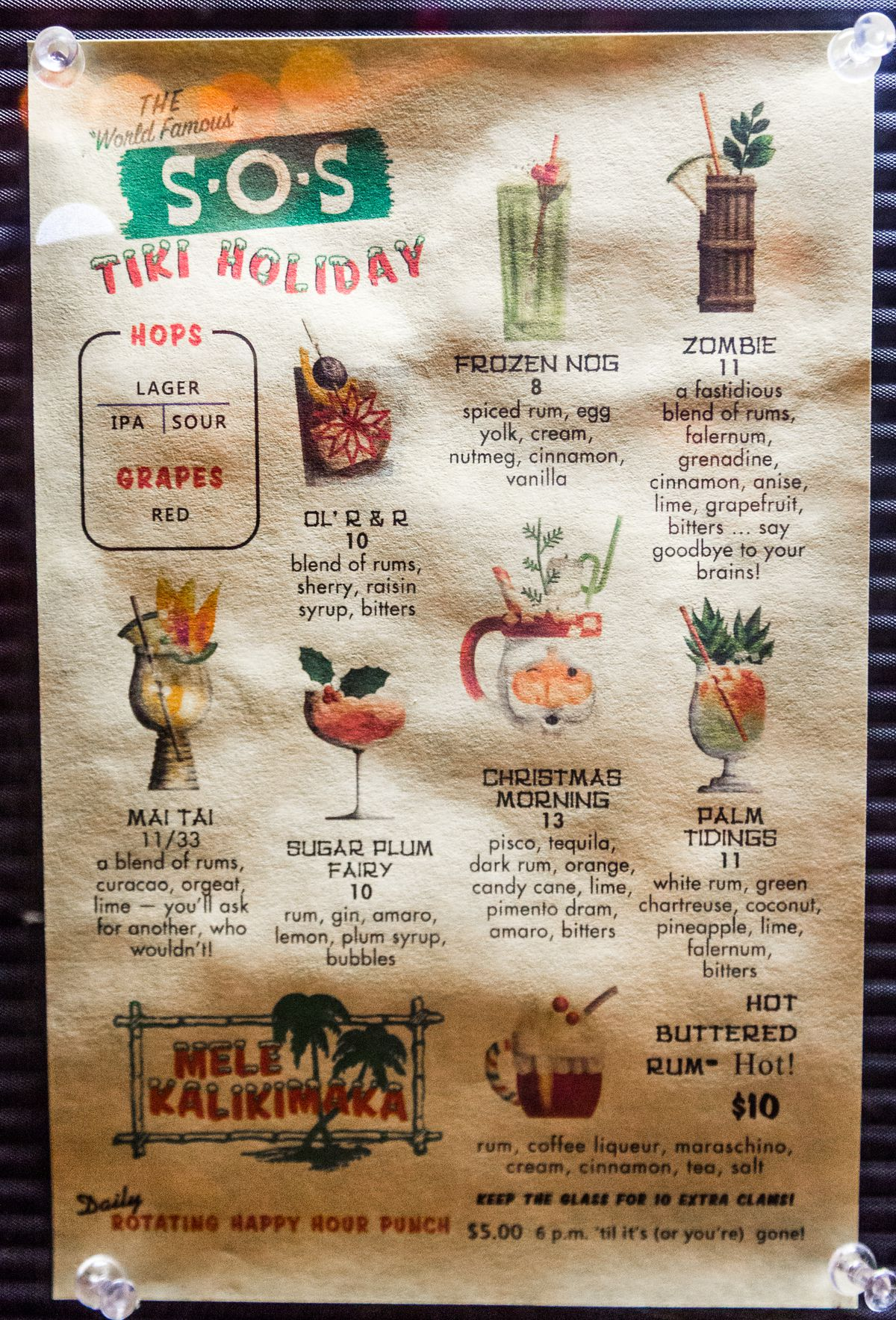 The Holiday Pop Up Bar At Sos Tiki Bar Returns To Decatur On