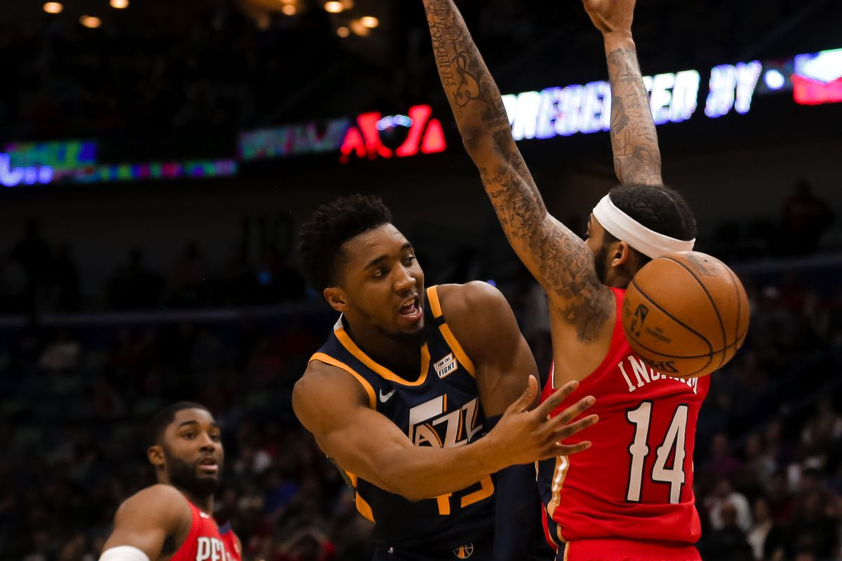 The Utah Jazz Take On The New Orleans Pelicans In A Bought