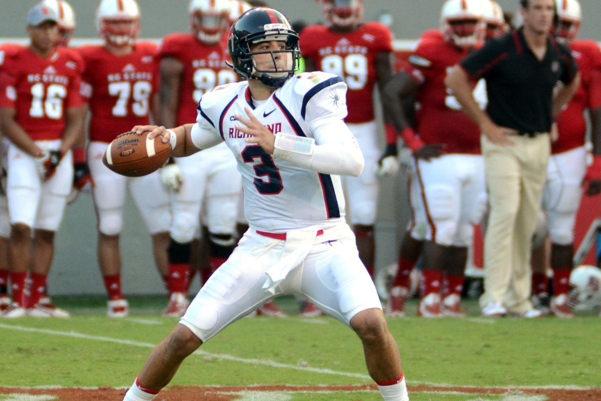 Former UVA quarterback, now Richmond Spider Michael Strauss