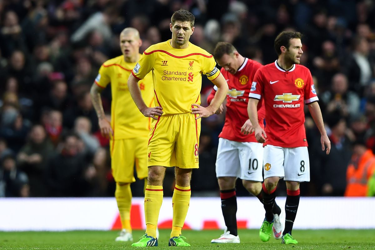 This could be Gerrard's last time facing Manchester United, and he starts on the bench. Will he get on the pitch?