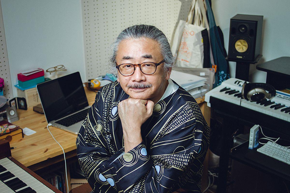 Nobuo Uematsu in a studio