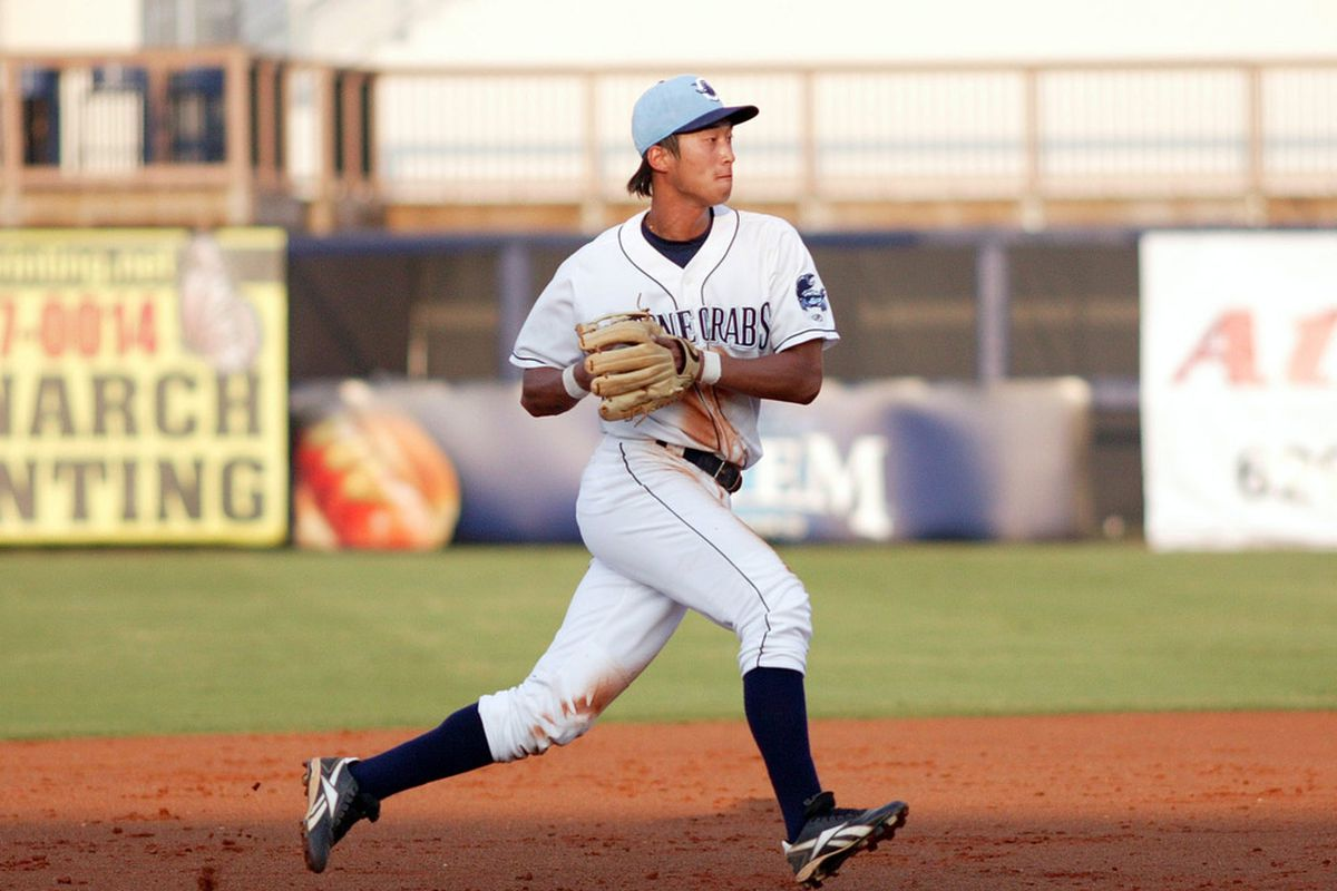 Tampa Bay Rays shortstop prospect Hak-Ju Lee, selected for the 2011 MLB All-Star Futures Game. (Photo courtesy of Charlotte Stone Crabs).