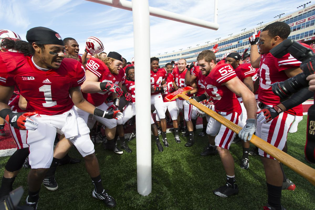Silly Badgers.  Iowa fans don't even need an ax to cut down goalposts.