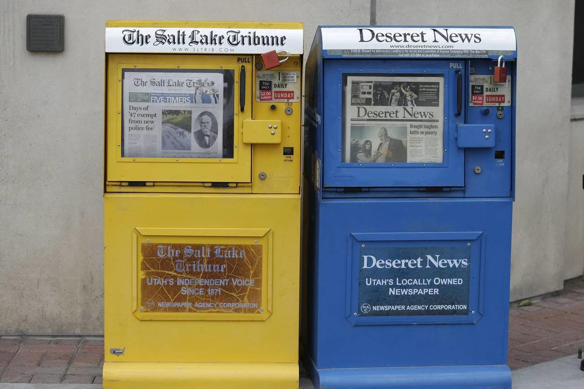 A new poll shows Utahns want to see two papers, both the Deseret News and Salt Lake Tribune, reporting on the state.