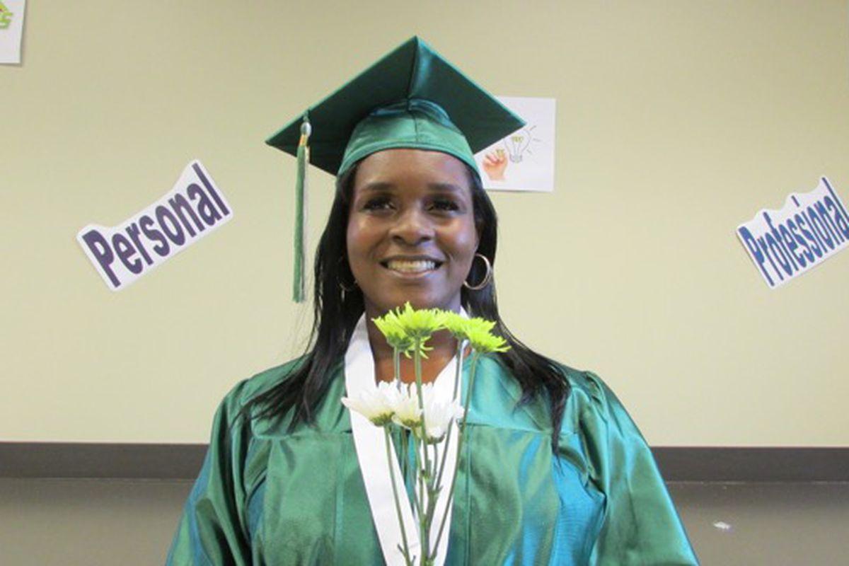 Excel Center graduate Crystal Anderson.