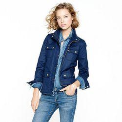"<a href=""http://www.jcrew.com/womens_category/outerwear/cottonanddenim/PRDOVR~19034/19034.jsp"">The downtown field jacket</a>, $103.60 (was $148)"