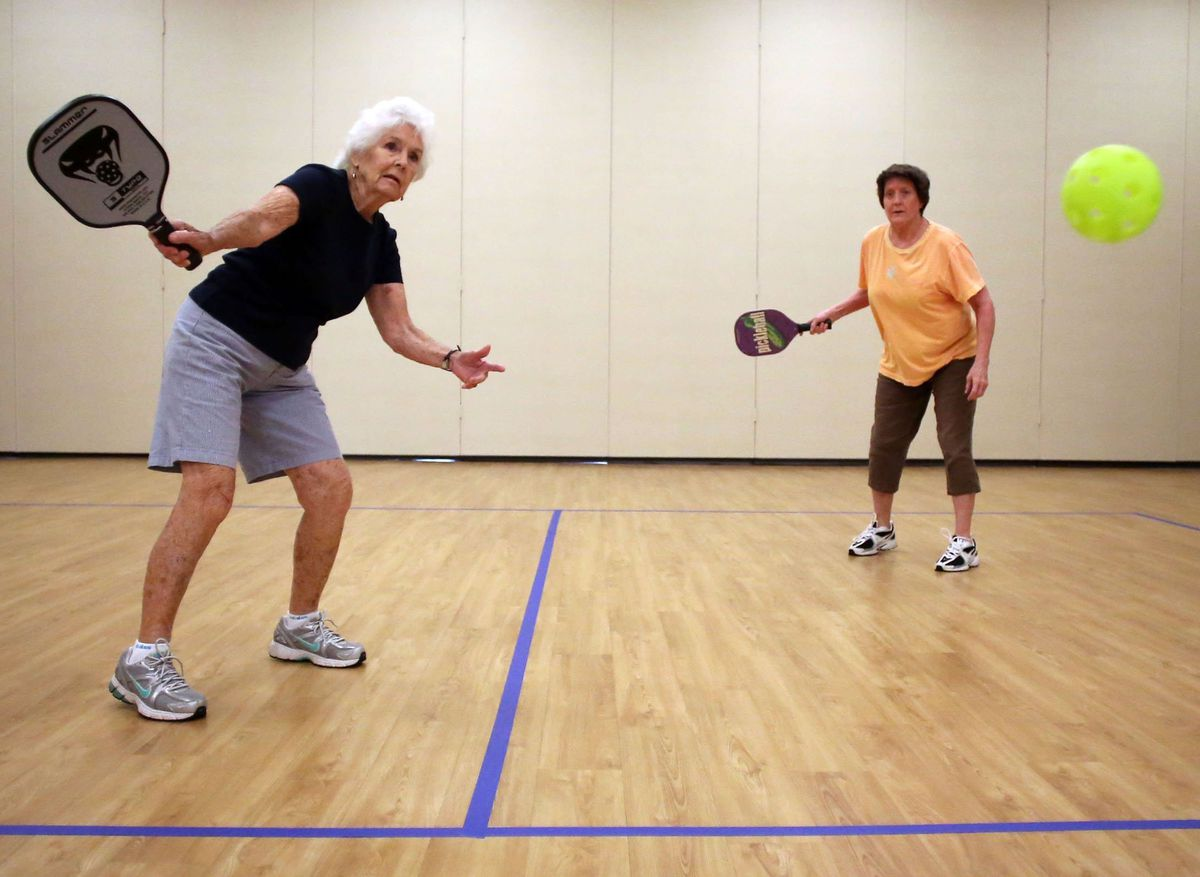 Two Pickleball players in North Carolina.