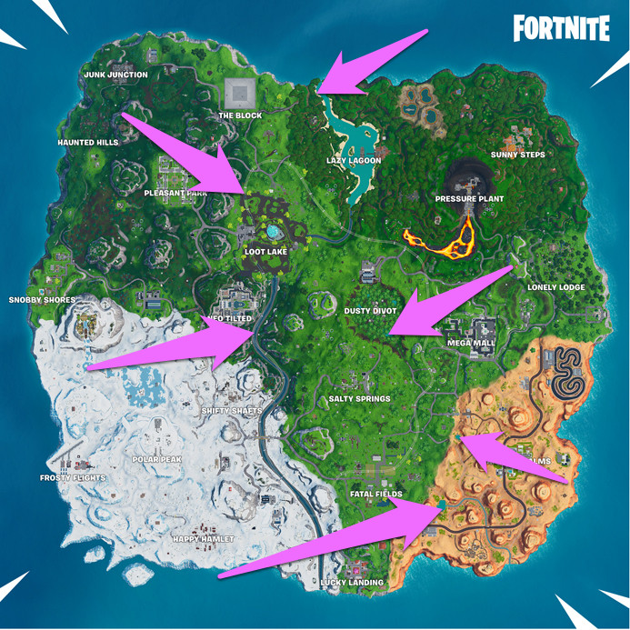 Dance at different beach parties map and locations