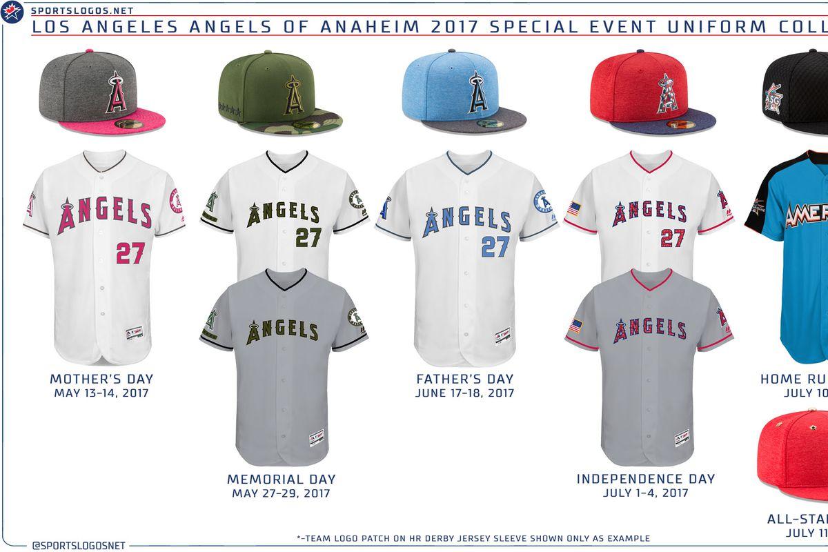 b4b8d0b87 MLB announces 2017 special event uniforms - Halos Heaven