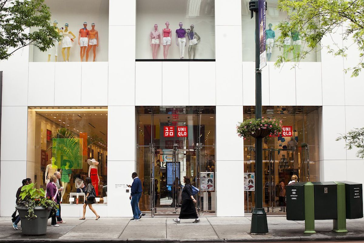 """A Uniqlo store in New York. Photo by Brian Harkin for <a href=""""http://ny.racked.com/archives/2013/07/11/uniqlo_will_open_in_brooklyn_and_staten_island.php"""">Racked NY</a>."""